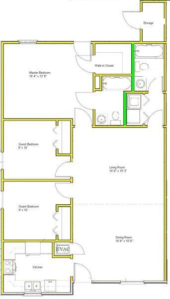 3/2 A Floor Plan
