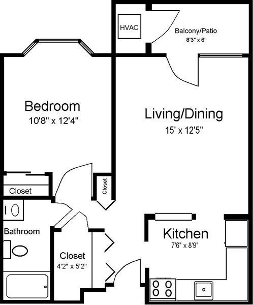 716 1 bedroom K