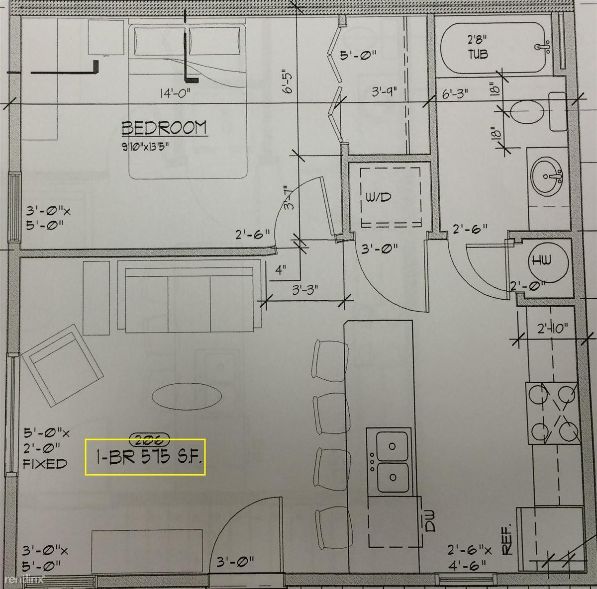 1 bed 12plex