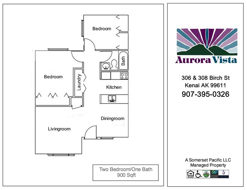 AURVT-Two Bedroom FP