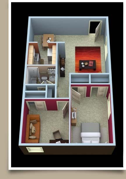 Covington Two Bedroom floor plan