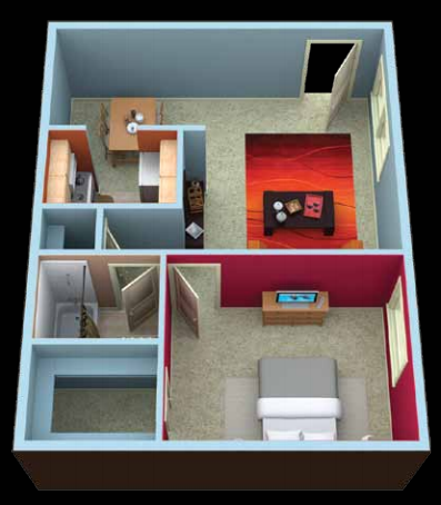 Covington One Bedroom floor plan