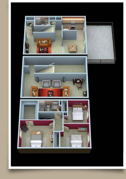 Covington 3 Bedroom floor plan