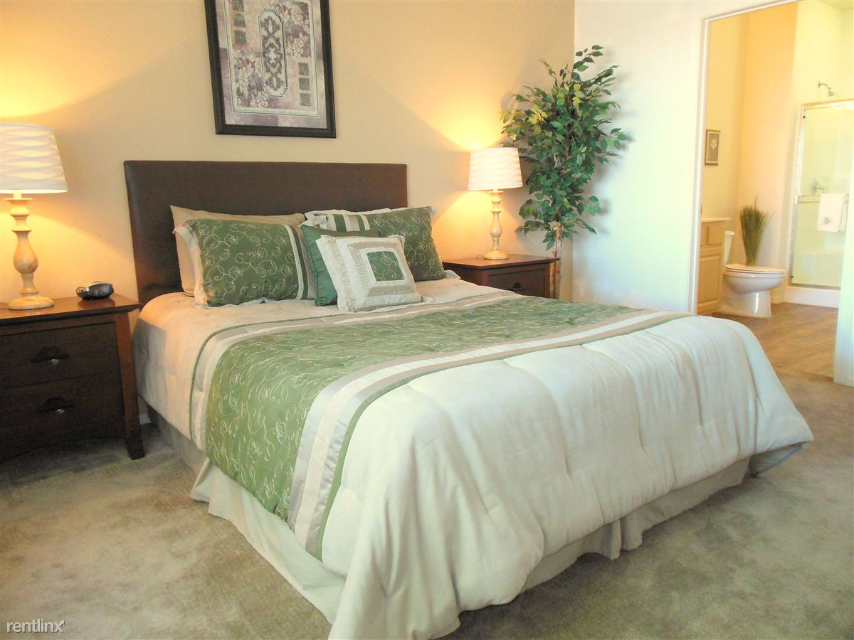 Spacious master bedroom with master bath and walk-in closet.