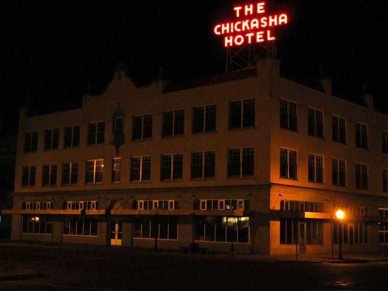 Chickasha Exterior at Night