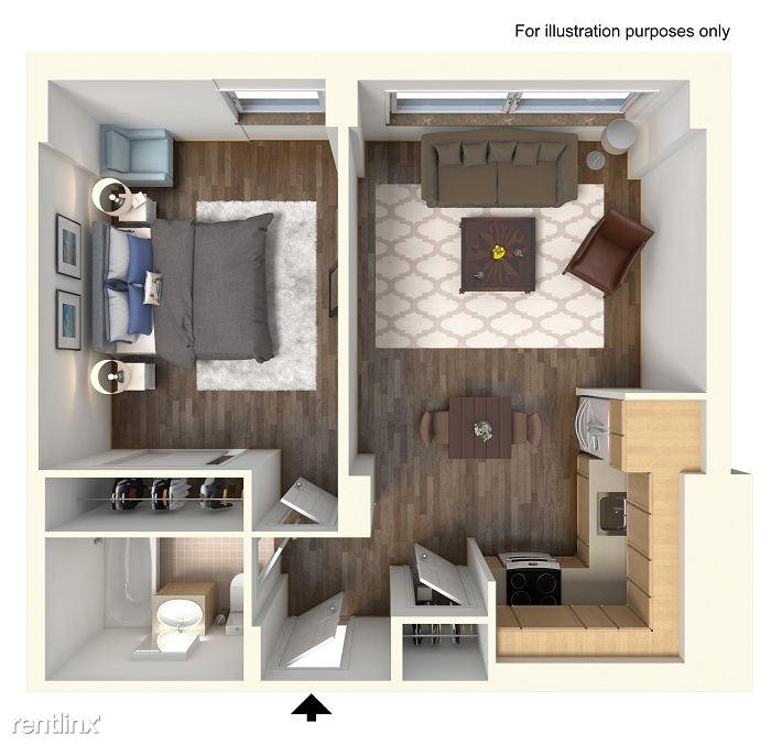 3D-1 Bedroom FP
