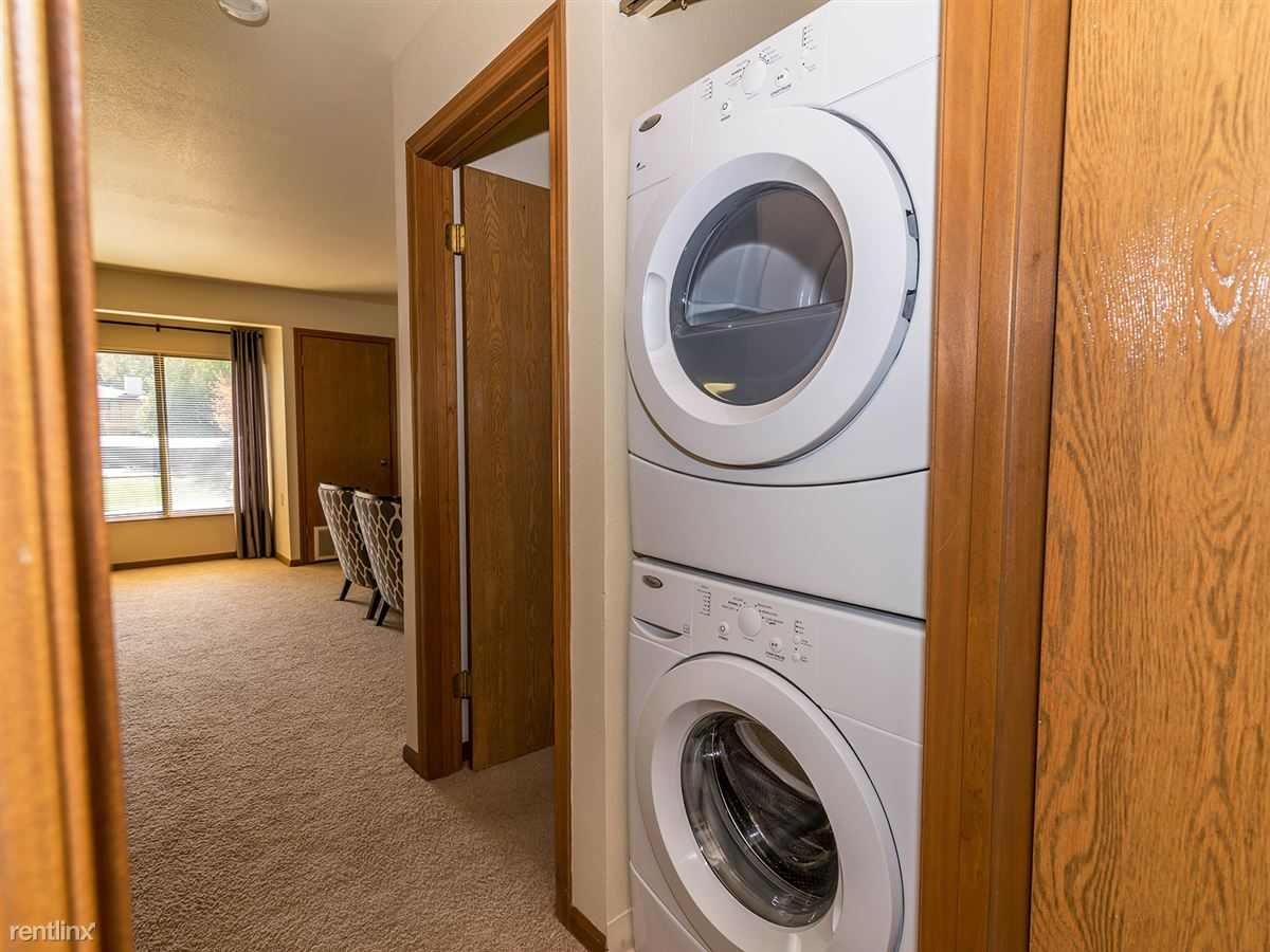 No more saving quarters or visiting a laundromat.  Every apartment has its own washer and dryer!