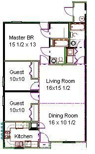 3/2 Floor Plan Unit A