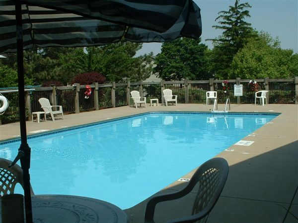 Sparkling outdoor pool for you to relax in!