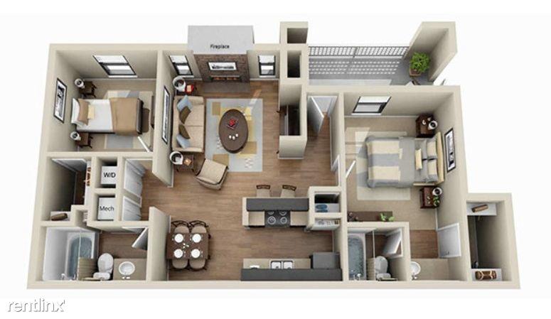 aViera Whitemarsh 2 Bedroom Floor Plan