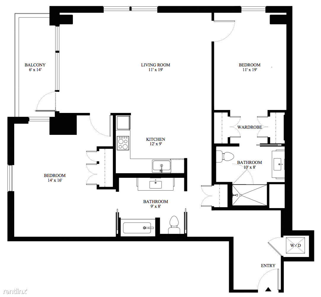 Unit 502 Floor Plan