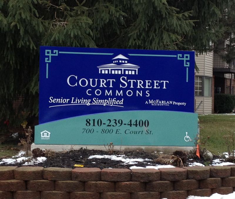 Court Street Commons Sign