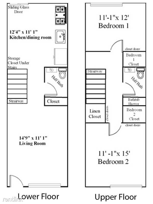 upper floor plan townhouse 2