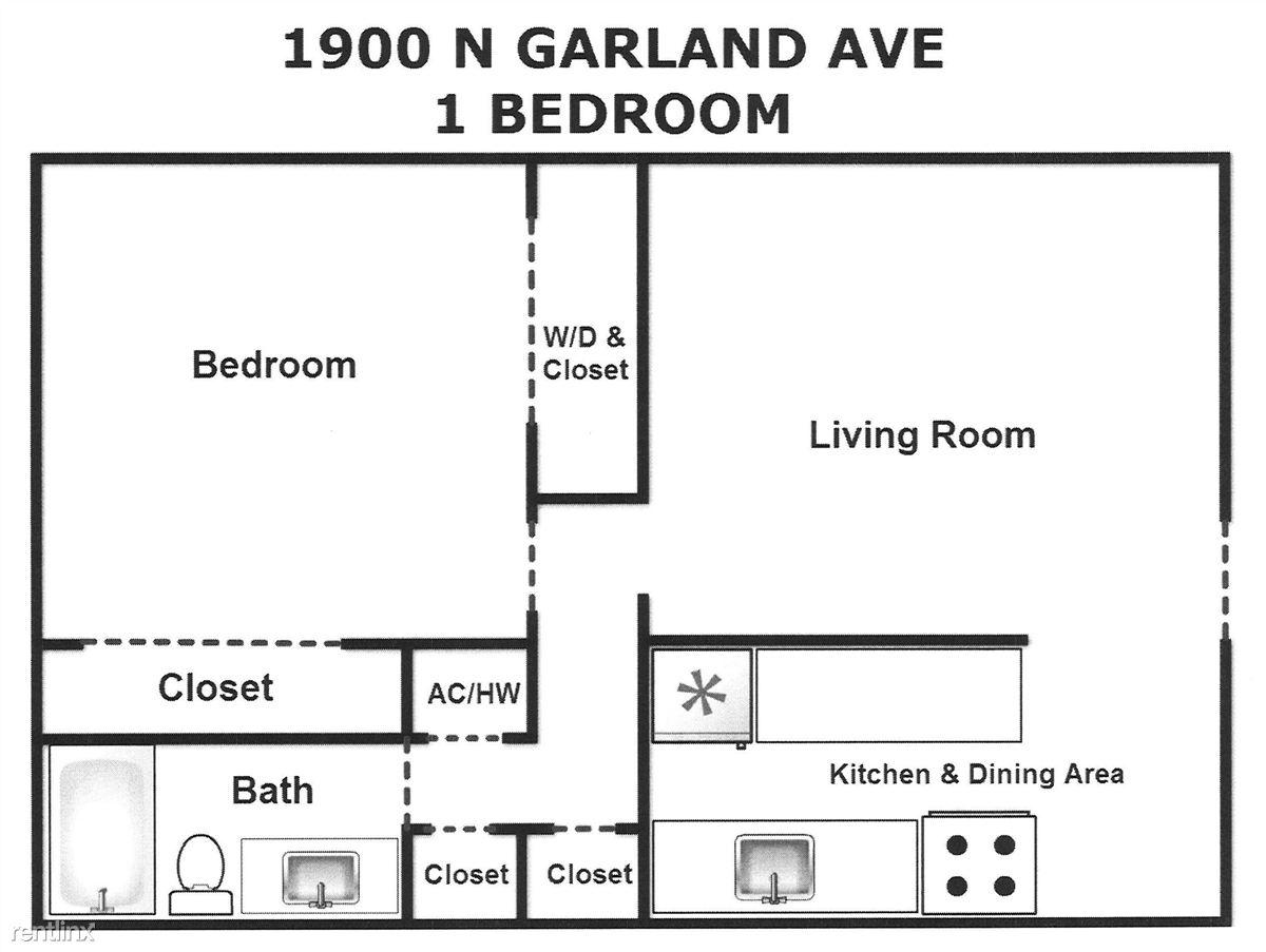1 Bed Garland