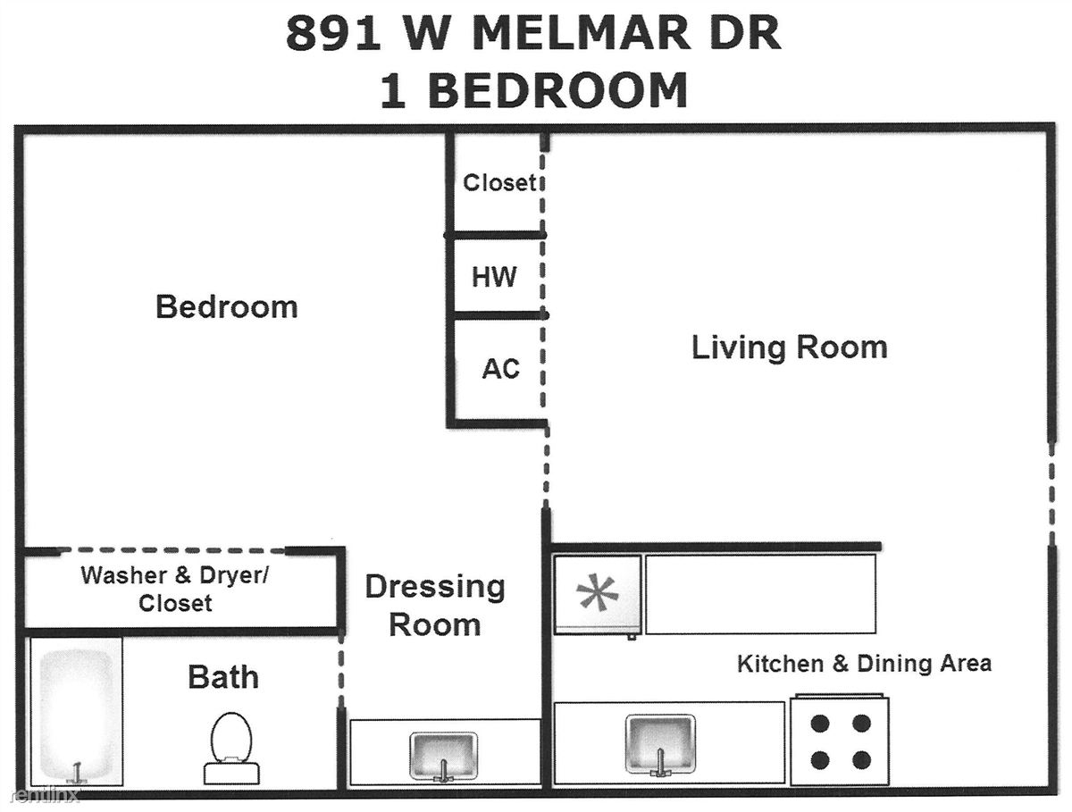 1 Bed Melmar