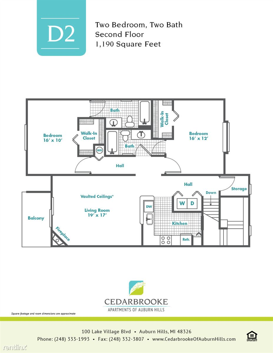 Cedarbrooke FloorPlan InsertD2