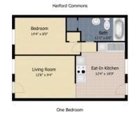 one bdrm apt floor plan