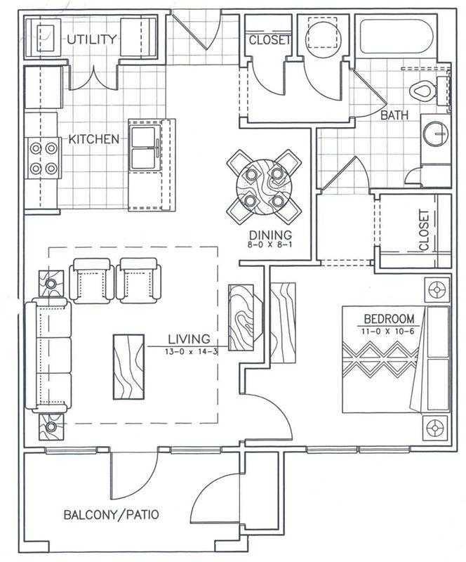 Arbor Point 1 Bedroom Floorplan