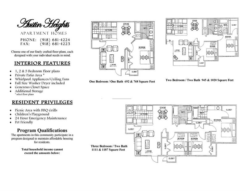 Austin Heights Features and Floorplans