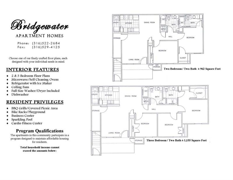 Bridgewater Features and Floorplans