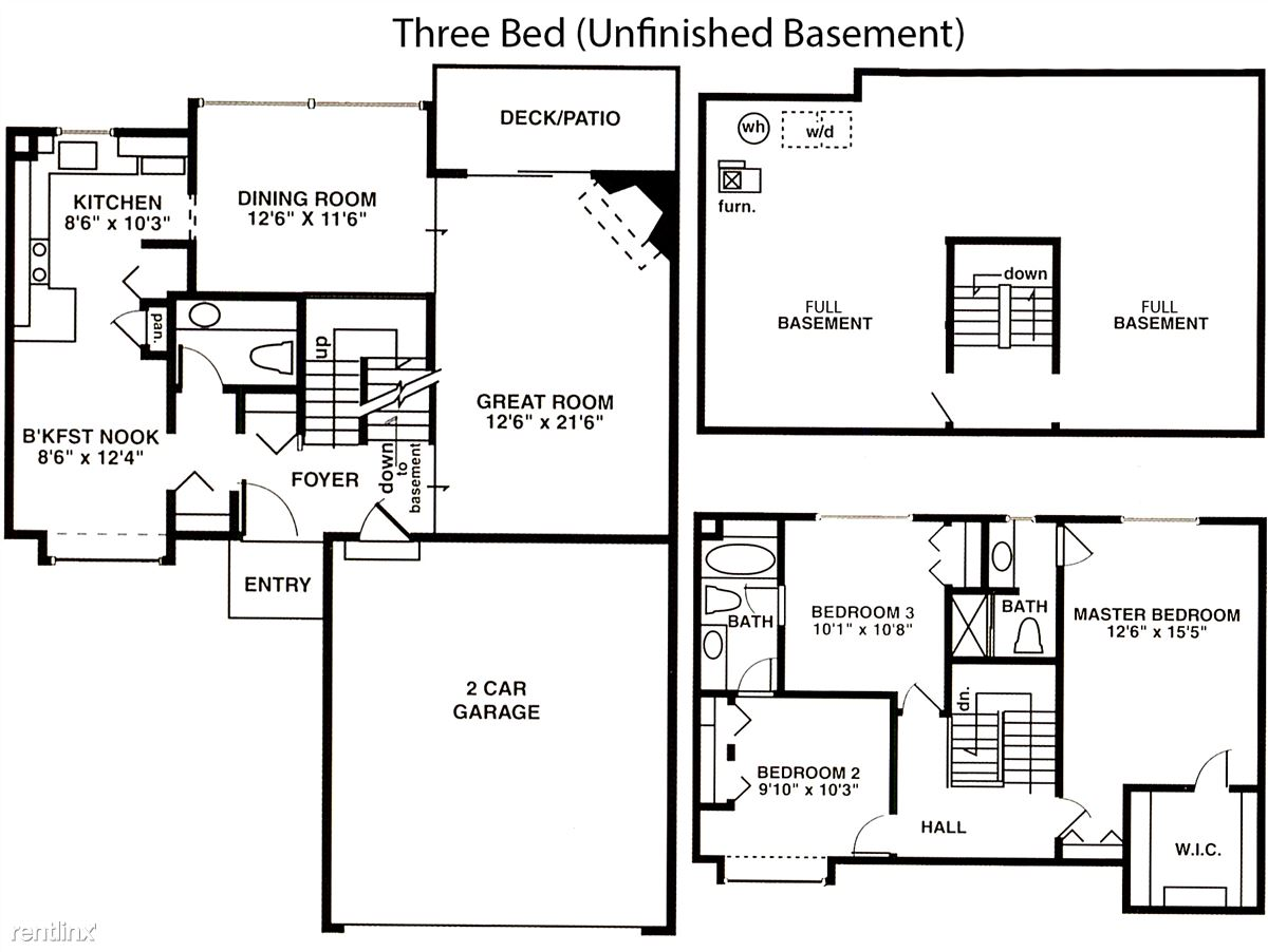 3 Bed Full Unfinished