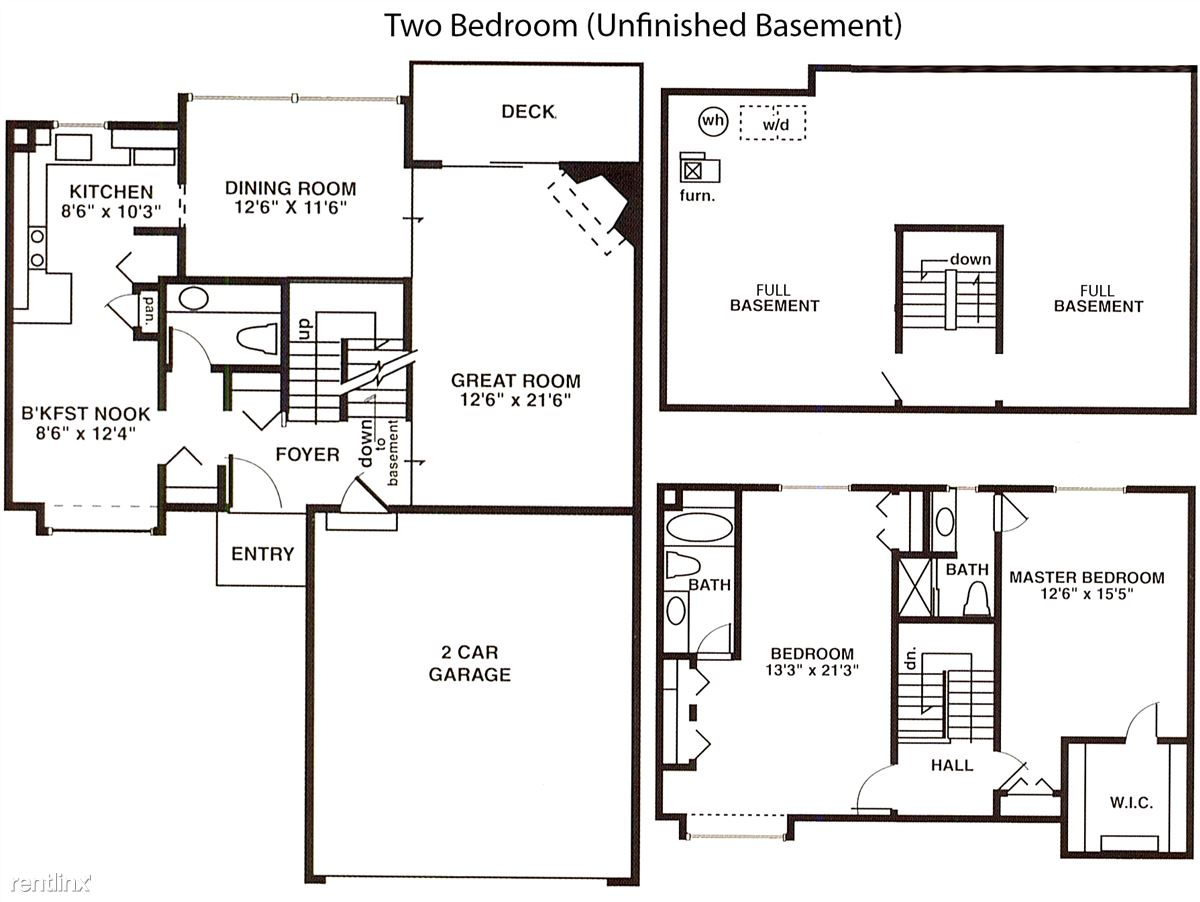 2 Bed Full Unfinished
