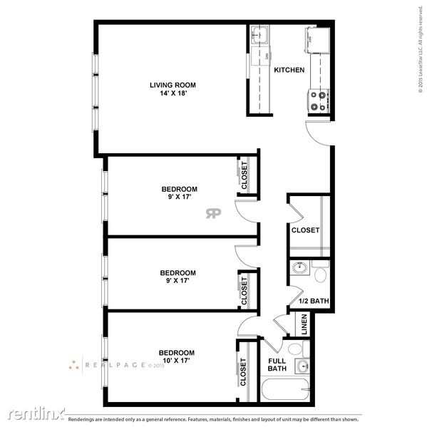 3 Bed Floor Plan
