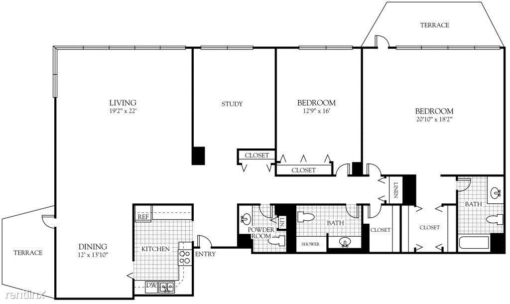 Three Bedroom 2,000 sq ft