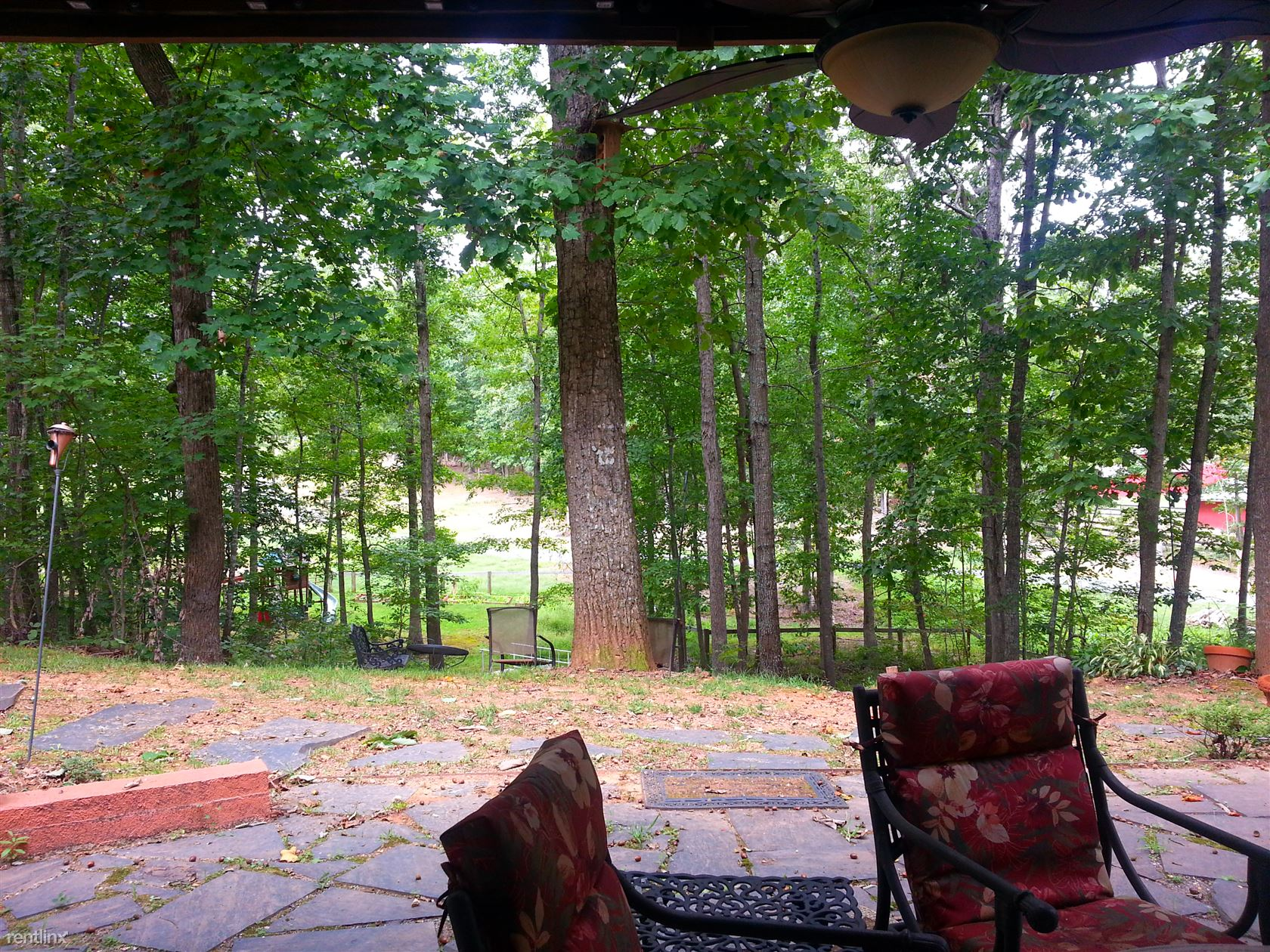 View from patio off master suite