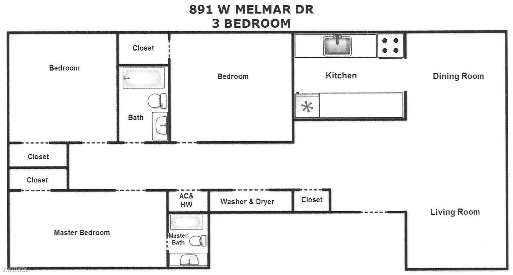 3 Bed Melmar