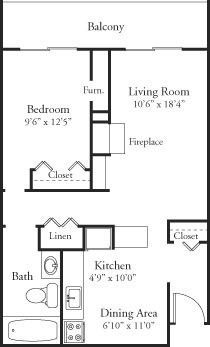 HV-1bed1bath