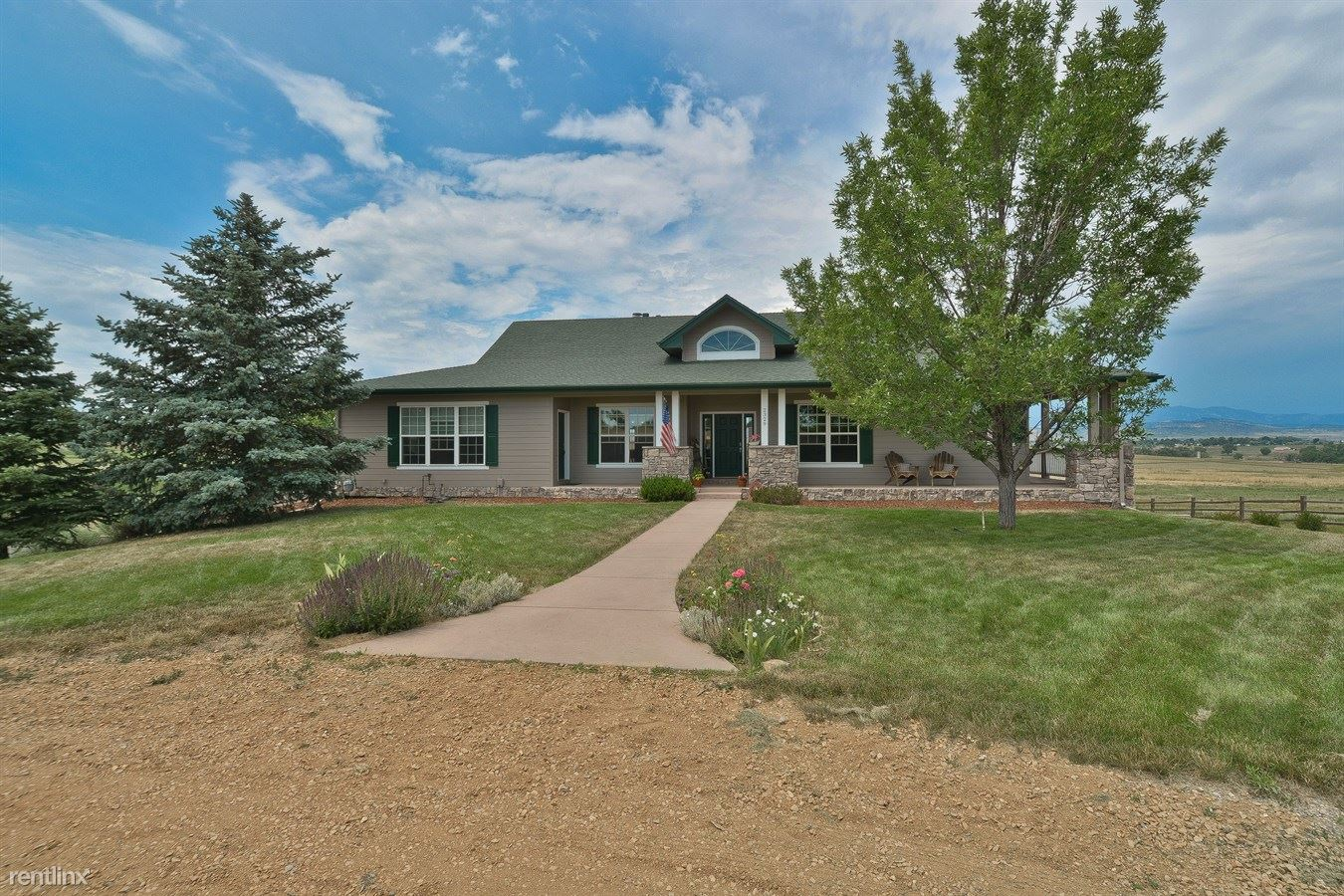 Custom built, sprawling ranch style home for rent on 35 acres with amazing views.