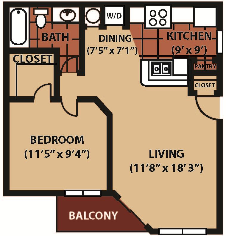VDS 1BR 671 sq. ft. NEW