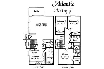 Atlantic 3 Bed Floor Plan
