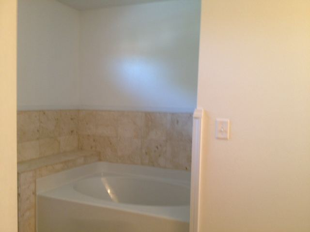 Garden tub in Master Bathroom and Standup shower