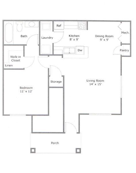 Cozy one bedroom home