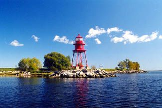 Alpena Harbor Lighthouse just minutes away