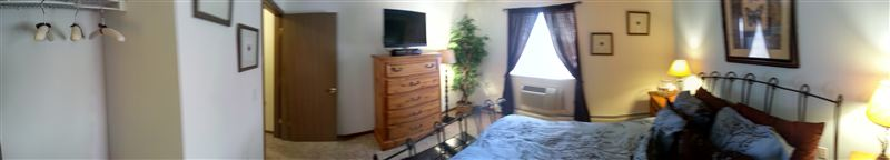Panoramic View of the Bedroom