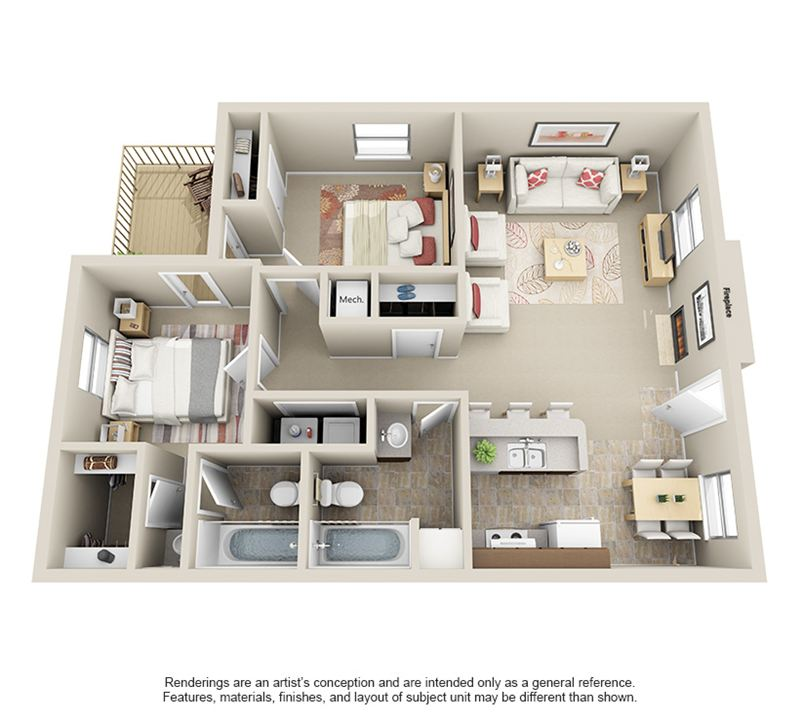 Sheridan Square_2Bed2Bath_3 - 3D for Web
