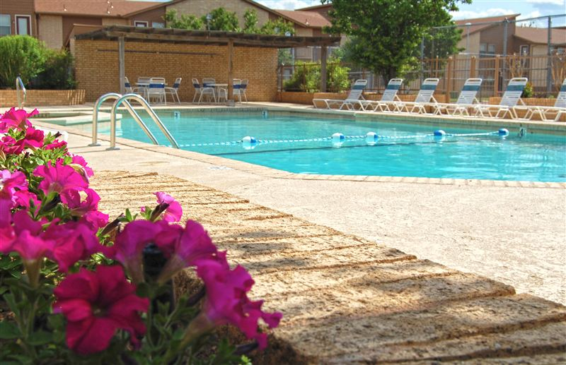 Beat the hot heat of the Oklahoma summer by taking a swim in our sparkling pool.