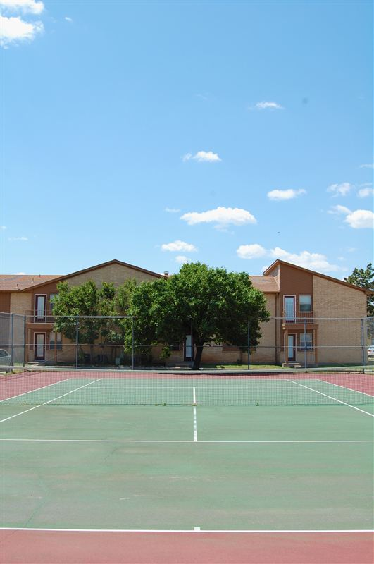Enjoy the lovely Lawton weather with a game of tennis.