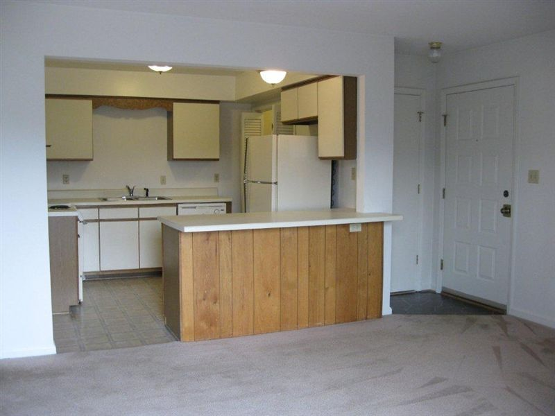 Open floor plan. Large counter.