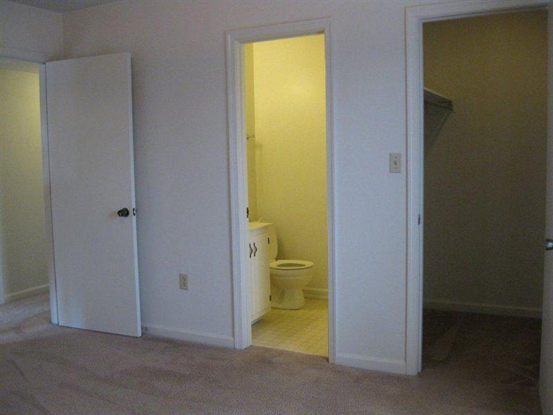 Half Bath and large walk in closet