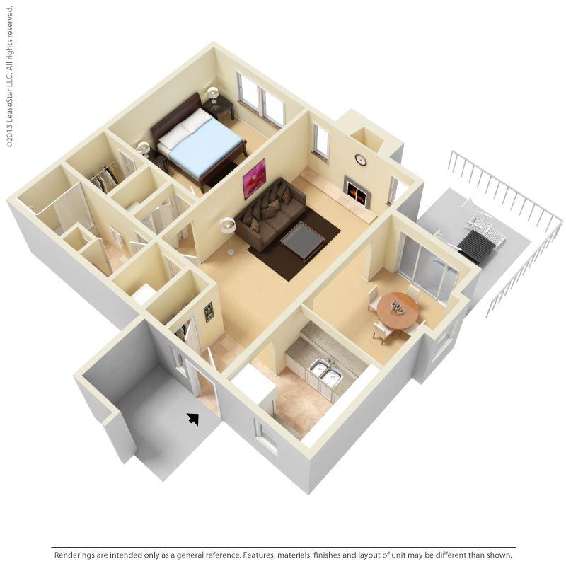 A2 A4 3D floor plan