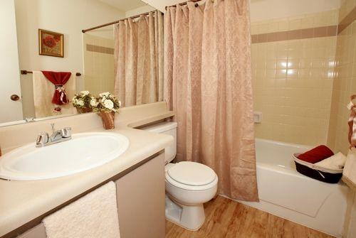 Stylish bathroom.