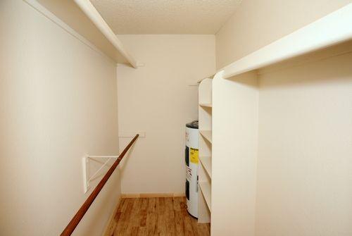 Spacious walk-in closet.