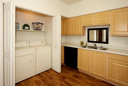 2 bedroom units come with a washer and dryer!