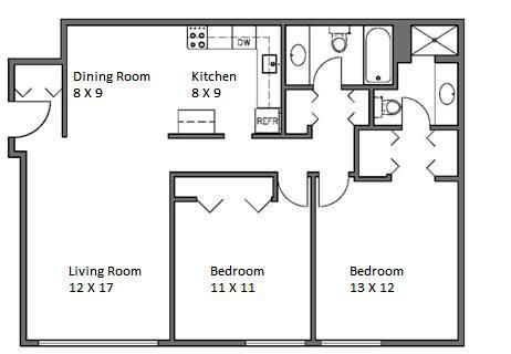 Whitehall 2 Bedroom