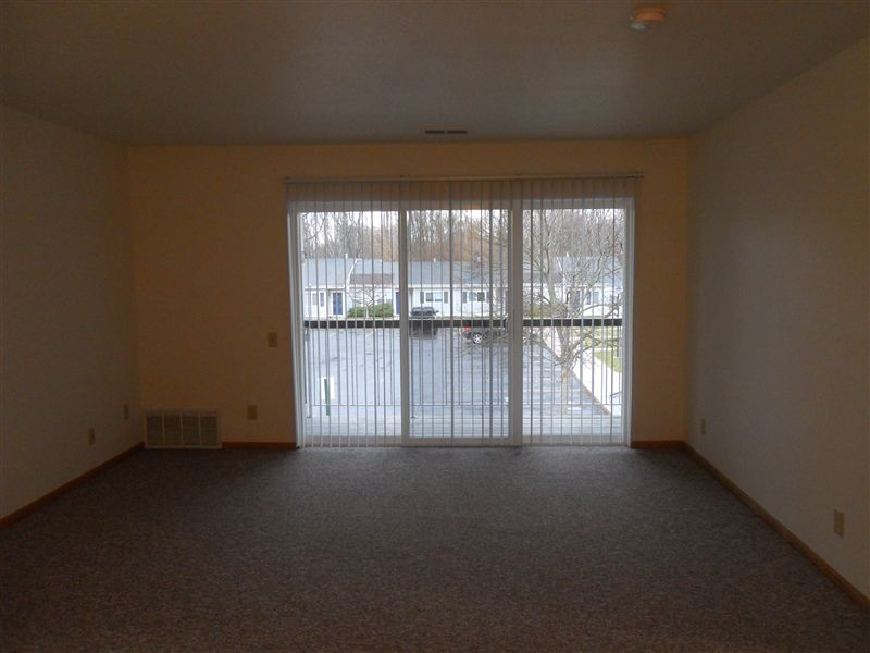 Living room with sliding glass door
