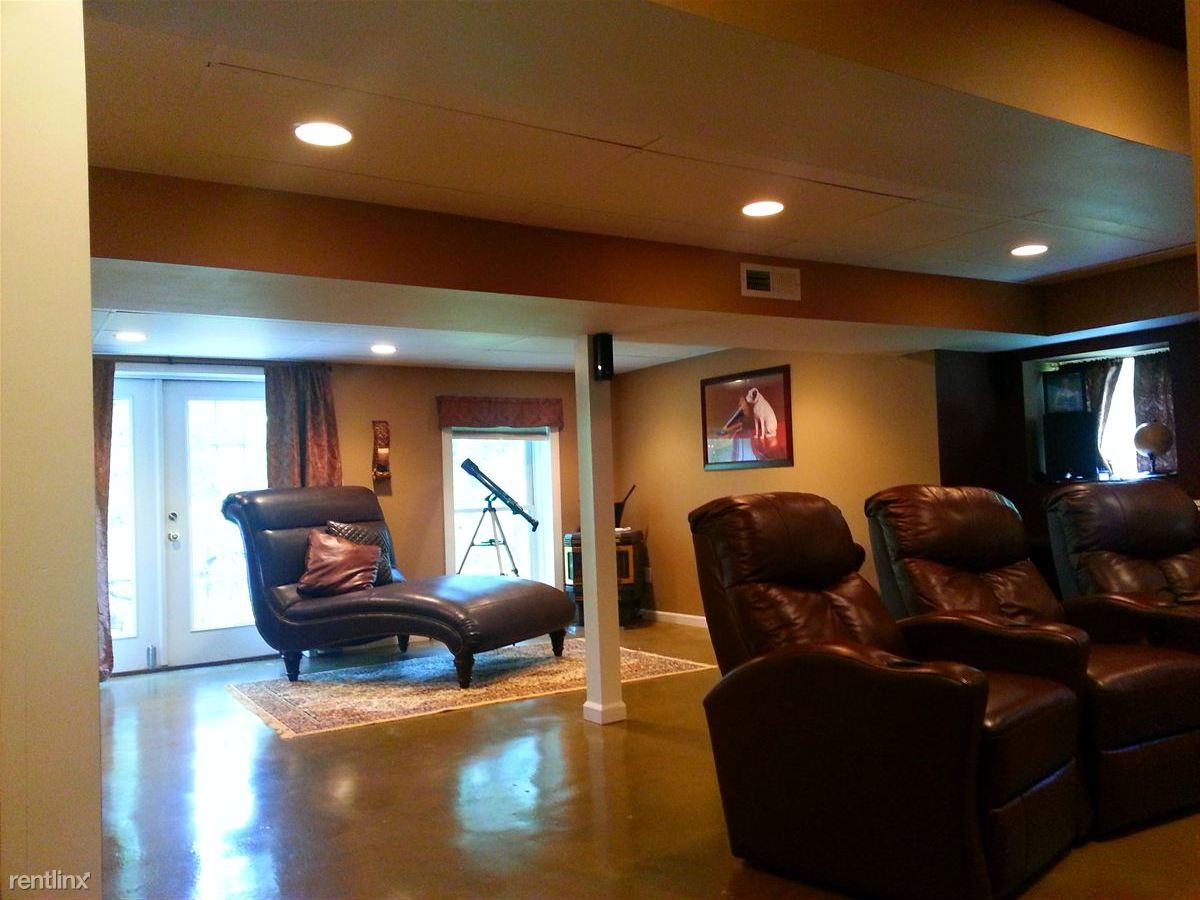 Living area and media area